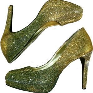 Gold & Silver Shimmer Fioni Night Pumps